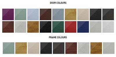 Solidor CONWAY door and frame colours