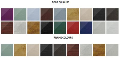 Solidor-flint door and frame colours