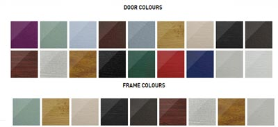 Solidor French door and frame colours