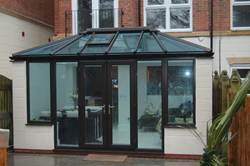 Ultraframe conservatory in Black Foil